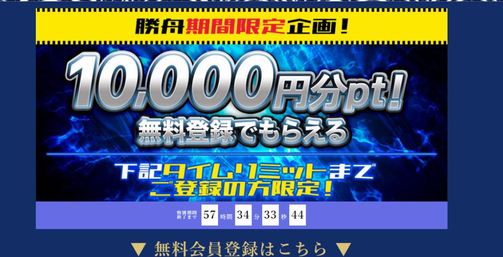 悪徳競艇予想サイト 勝舟のキャンペーン
