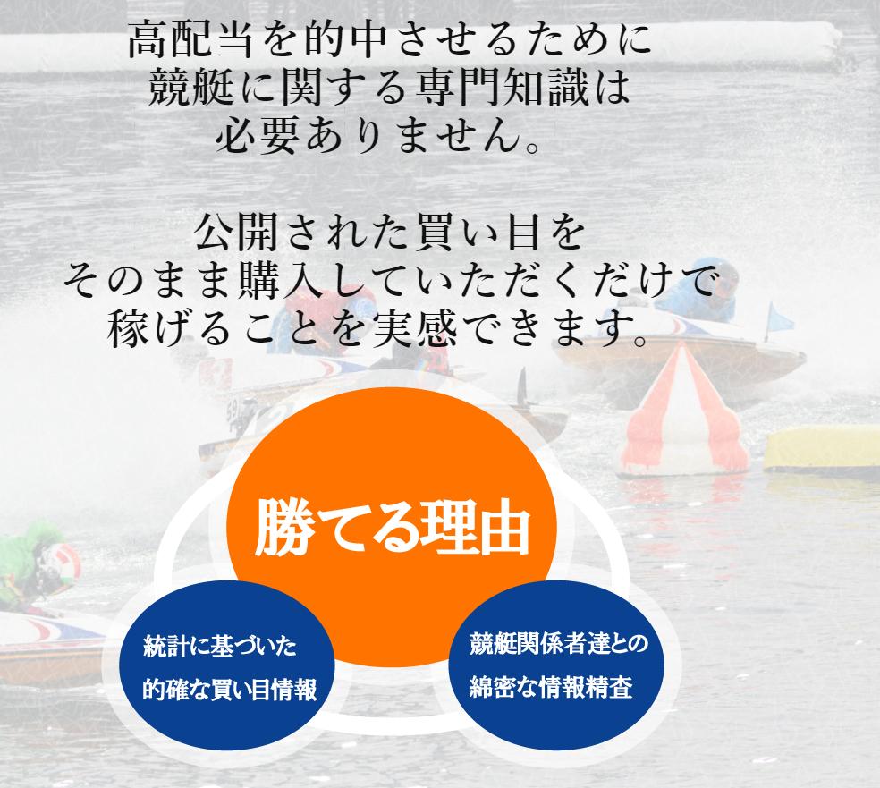 悪徳競艇予想サイト 勝舟のアピール