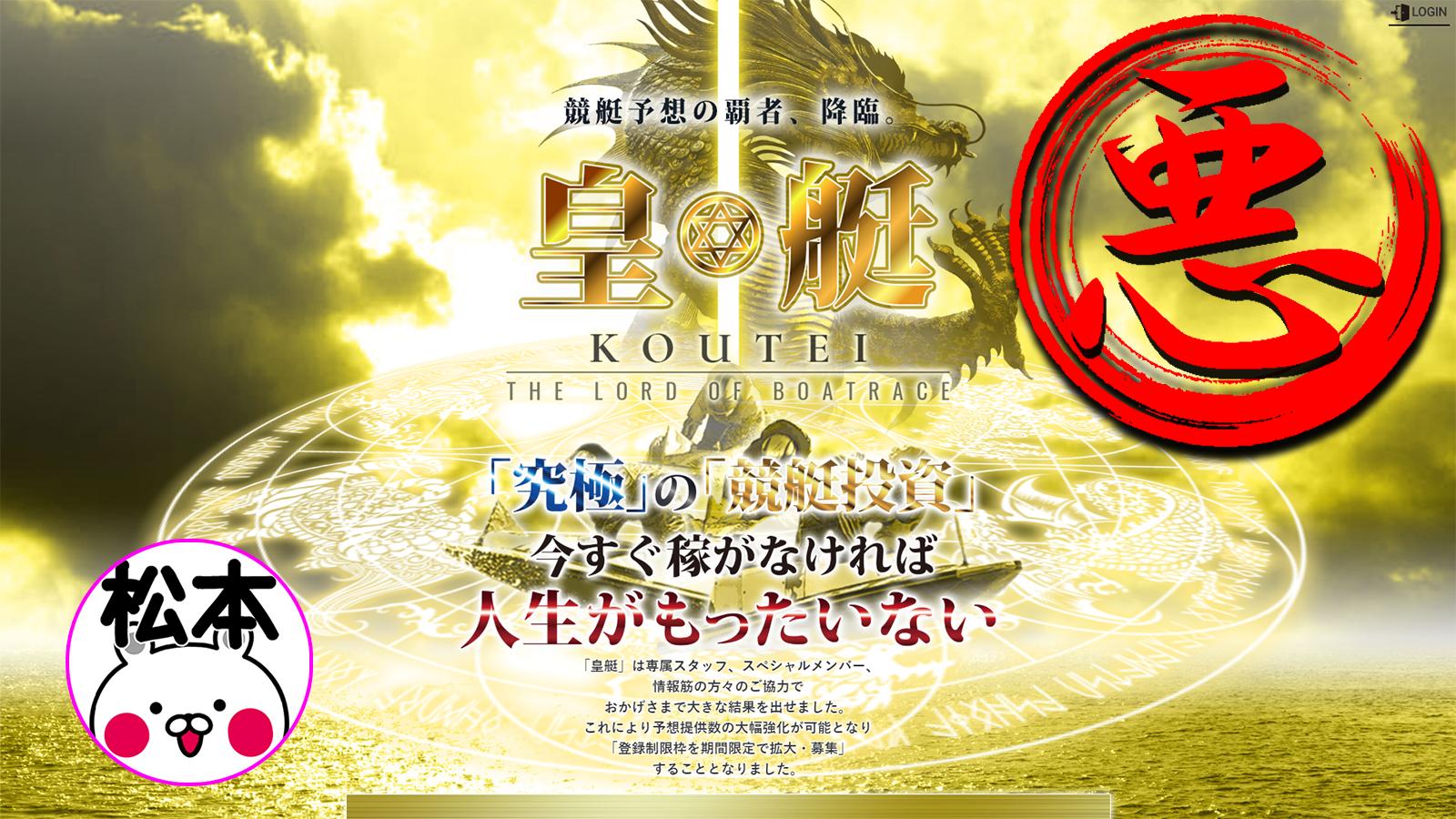 悪徳競艇予想サイト【皇艇】のトップ